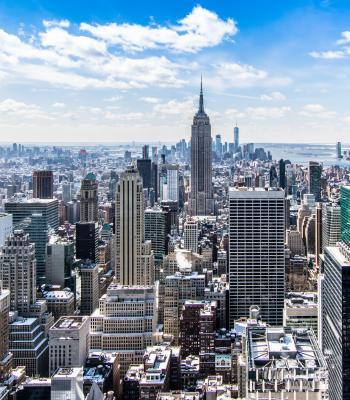 City Skyline on Sunny Day