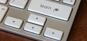 laptop keys with Learn button