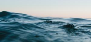 Dark blue ocean waves